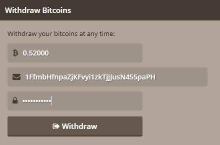 Withdraw Bitcoin - 107273